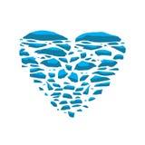 Замороженное сердце Замороженное сердце на белой предпосылке бесплатная иллюстрация