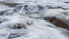 Замороженное скалистое река color ice nice very стоковое фото