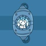 Замороженное сохраненное сердце иллюстрация вектора