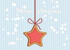 Замороженность украшенная пряником покрашенная Качественная иллюстрация вектора на день ` s Нового Года, рождество, зимний отдых Стоковое Фото
