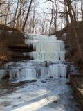 замороженные водопады стоковая фотография rf