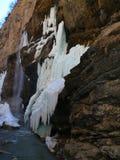 замороженные водопады Водопады Chegem Россия Стоковое Изображение RF
