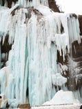 замороженные водопады Водопады Chegem Россия Стоковые Фотографии RF