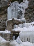замороженные водопады Водопады Chegem Россия Стоковое фото RF