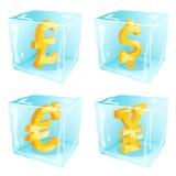 Замороженные деньги иллюстрация вектора