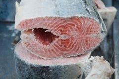 Замороженные красные рыбы Стоковые Фотографии RF