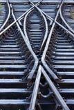 замороженные линии железнодорожные Стоковые Фото