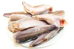 Замороженные мерлузы рыб Стоковое Изображение RF