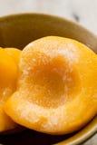 Замороженные персики Стоковое фото RF