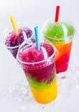Замороженные пить слякоти радуги охлаждая на льде Стоковая Фотография RF