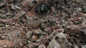 Замороженные поля лавы большого Tolbachik Fissure извержение видеоматериал