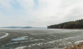 Замороженные реки Стоковые Изображения RF