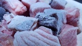 Замороженные рыбы отрезанные на плите Стоковое фото RF
