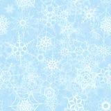 Замороженные снежинки на предпосылке льда, картине зимы безшовной иллюстрация штока