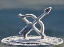 Замороженные солнечные часы Стоковая Фотография RF
