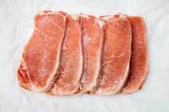 Замороженные стейки мяса Стоковое фото RF