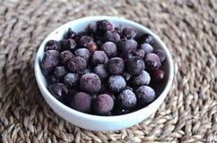 Замороженные ягоды черной смородины Стоковое Фото