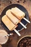 Замороженные lollies кофе Стоковое Изображение RF