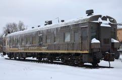 Замороженный автомобиль пассажирского поезда Стоковые Изображения
