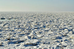 Замороженный айсберг в зиме, малой Стоковые Фото