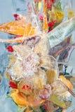 Замороженный букет померанцовых цветков Стоковые Изображения