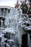 замороженный водопад icicles Стоковая Фотография RF