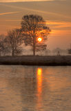 замороженный восход солнца озера Стоковые Изображения RF