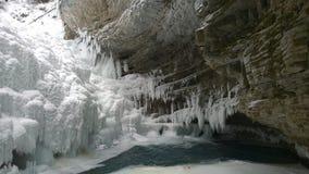 замороженный водопад Стоковая Фотография RF