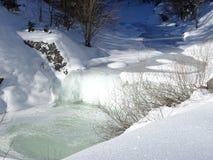 замороженный водопад Стоковые Изображения