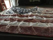 Замороженный государственный флаг США стоковая фотография rf
