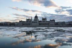 Замороженный Дунай Стоковая Фотография