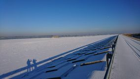 Замороженный Дунай Стоковое Изображение