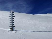 замороженный знак столба Стоковое Изображение RF