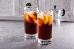 Замороженный кофе в высокорослых стеклах Стоковые Изображения RF