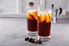 Замороженный кофе в высокорослых стеклах Стоковая Фотография