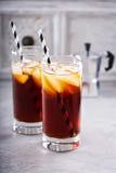 Замороженный кофе в высокорослых стеклах Стоковое Изображение RF