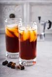 Замороженный кофе в высокорослых стеклах Стоковые Фотографии RF