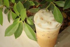 Замороженный кофе на цементе на парке Стоковая Фотография RF
