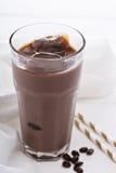 Замороженный кофе с молоком миндалины шоколада Стоковое Фото