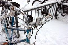 Замороженный крупный план велосипеда Стоковое Фото