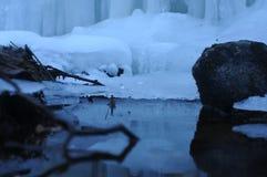 Замороженный национальный парк Harz Brocken ландшафта зимы водопада стоковое изображение rf