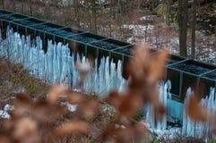 Замороженный национальный парк Harz Brocken ландшафта зимы водопада стоковое изображение