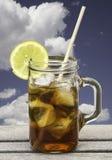 замороженный освежая чай Стоковое фото RF