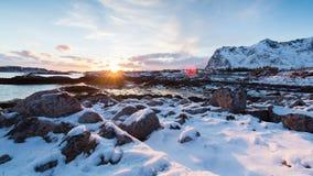 Замороженный поверхностный ландшафт в прибрежной Норвегии акции видеоматериалы