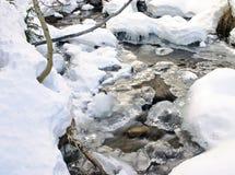замороженный поток Стоковое Изображение