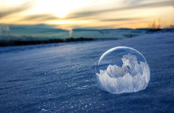 Замороженный пузырь Стоковые Фотографии RF
