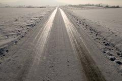 замороженный путь Стоковая Фотография RF