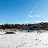 Замороженный пляж моря Стоковые Изображения RF