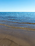 Замороженный пляж моря Стоковая Фотография