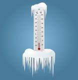 Замороженный термометр Стоковые Фото